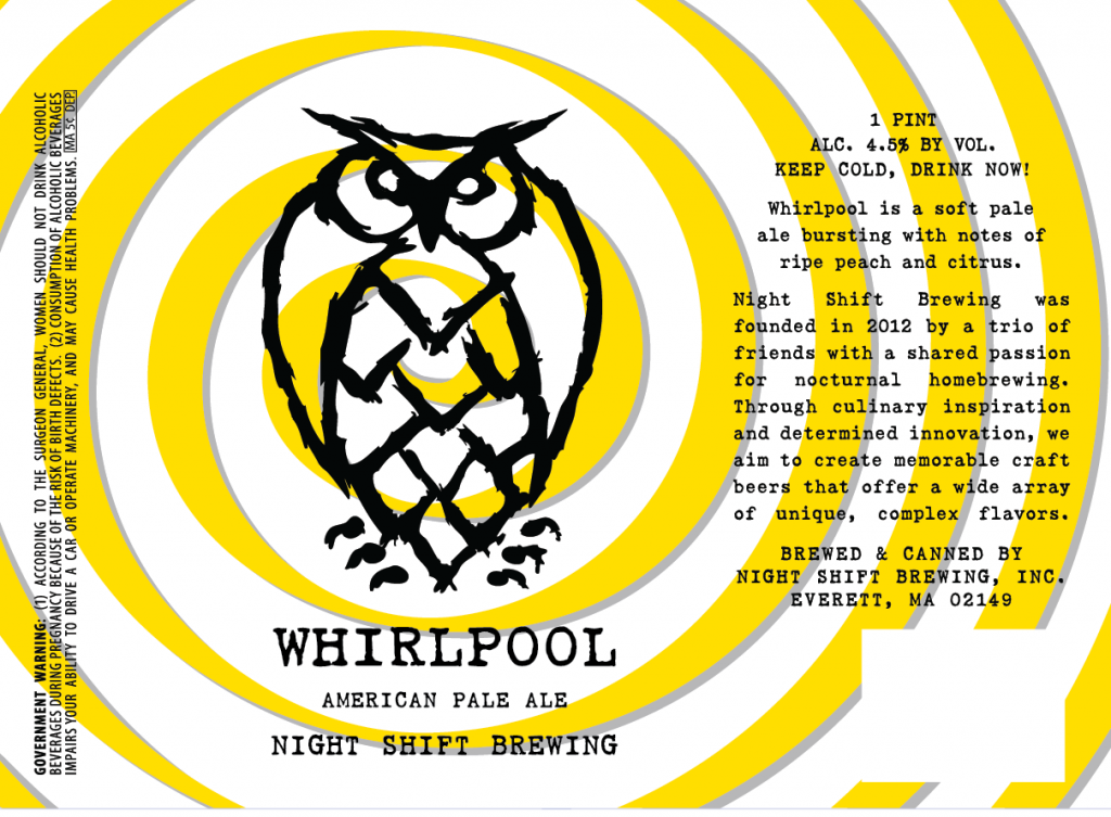 10,000 Birds Night Shift Brewing: Whirlpool American Pale