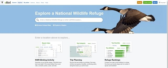 eBird Explore a National Wildlife Refuge