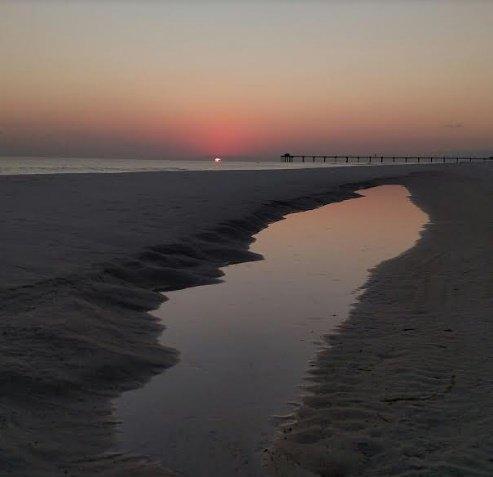 sunset, nature, florida