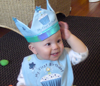 Mason on his first birthday